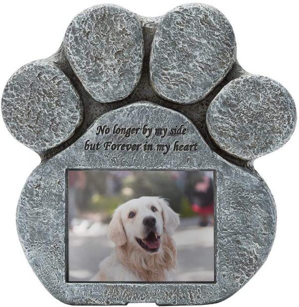 מצבה לכלב עם תמונה אישית
